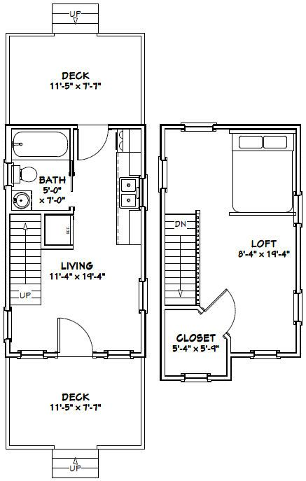 12x20 tiny house pdf floor plan 464 sq ft greenville for Tiny house floor plans pdf