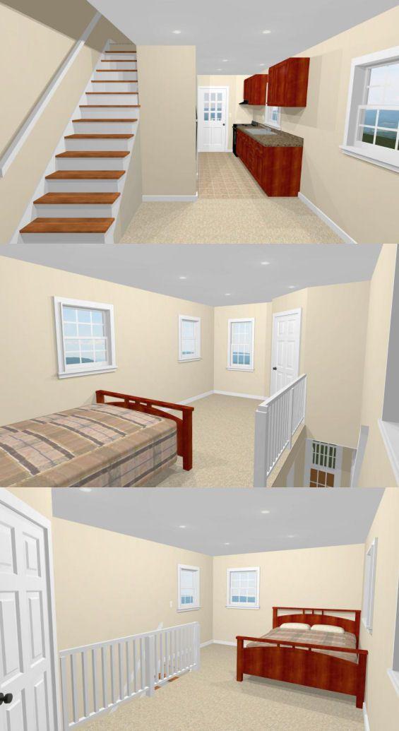 12x20 tiny house -- pdf floor plan