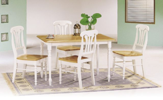 5 piece brown and white dining room set in elk grove ca - Brown and white dining room ...