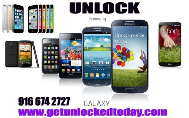 remote Unlock SAMSUNG GALAXY NOTE 3..S5 S4