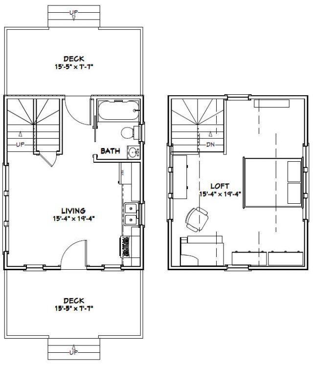 16x20 tiny house -- 574 sq ft