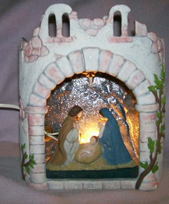 Ceramic Hand Painted Nativity Scene