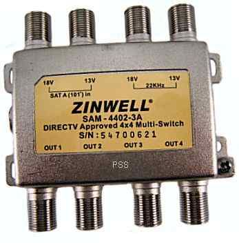 DTV Multi-Switch 4x4 by Zinwell