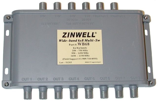 Zinwell Wide Band 6x8 Multi-Switch for DirecTV
