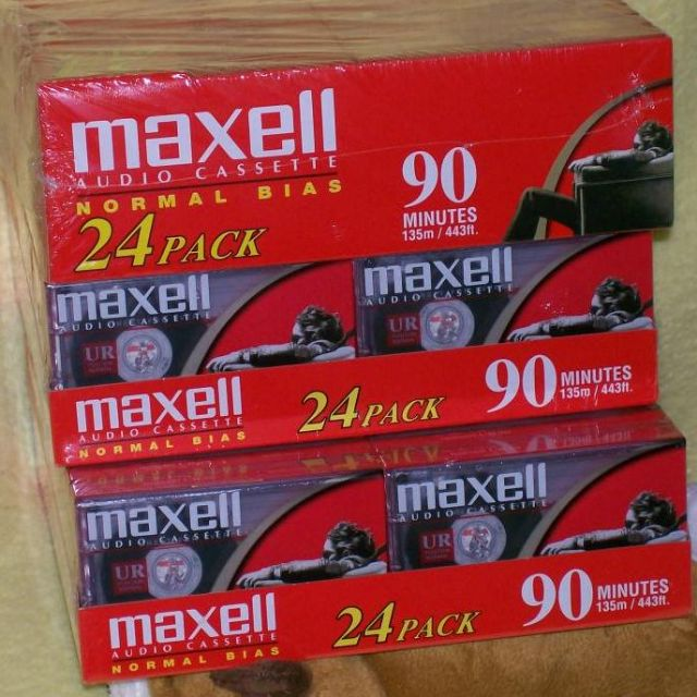 Maxell UR-90 Normal Bias 90 minute Audio Cassettes