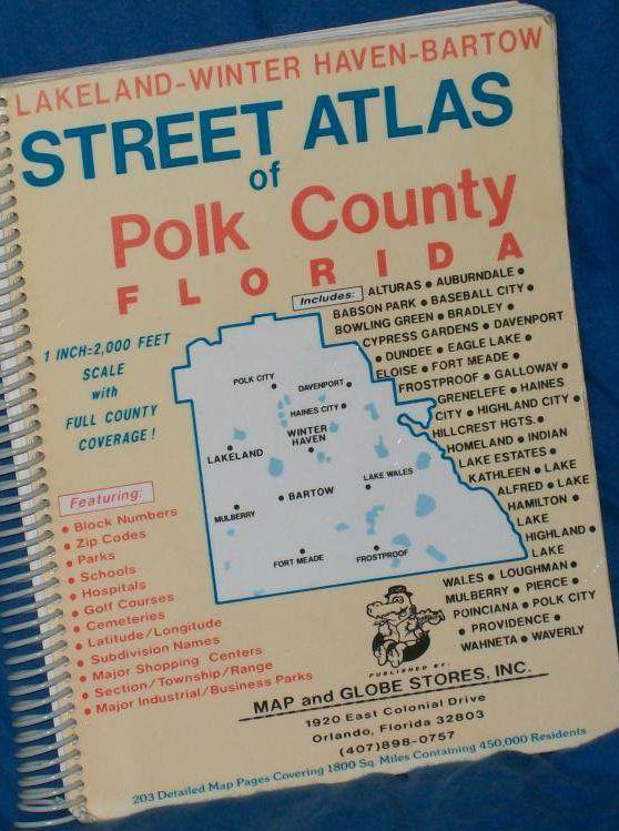 Polk County FL Deluxe Street Atlas