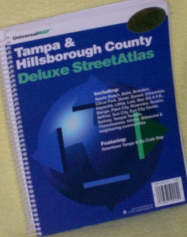 Tampa & Hillsborough Co Deluxe Street Map