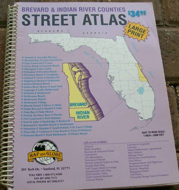 Brevard and Indian River Street Atlas