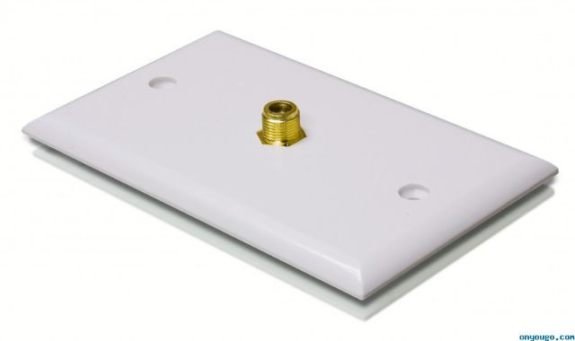 Coaxial Wall Plate Single White