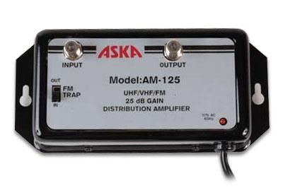 ASKA AM-125 uhf/vhf/fm 25dB Distribution Amplifier