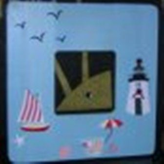 Cute handcrafted Beach Lighthouse Picture Frame 