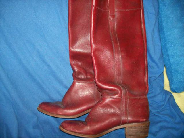 Womens Leather Knee High Boots