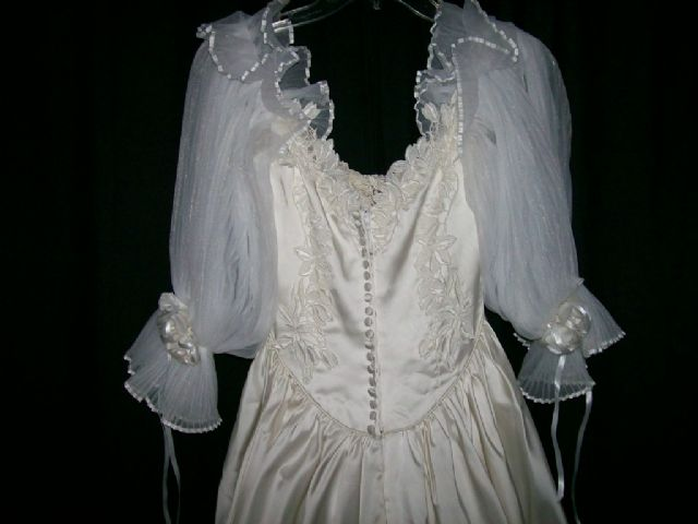 Satin Wedding Gown and accessories
