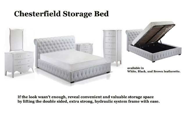 Chesterfield Platform Storage Bed JNM 17776