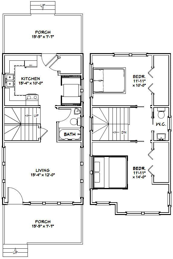 16x30 tiny house 901 sqft pdf floor plan champaign for Tiny house floor plans pdf