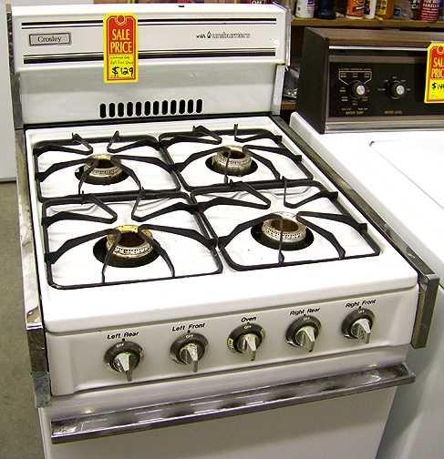 crosley natural gas apartment size stove champaign illinois