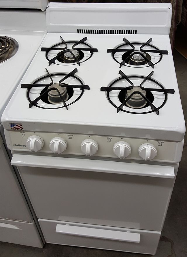 holiday apartment size natural gas stove in chesterville il