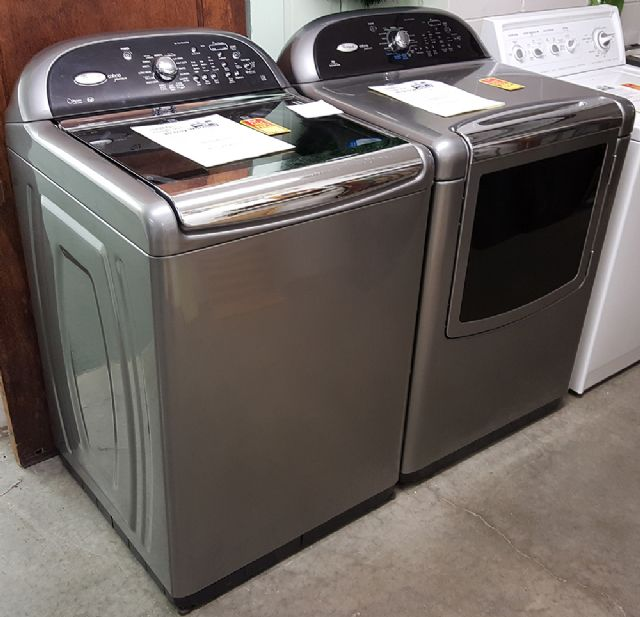 Symbol Mattress Company Whirlpool Cabrio Platinum Washer & Dryer in Chesterville IL ...
