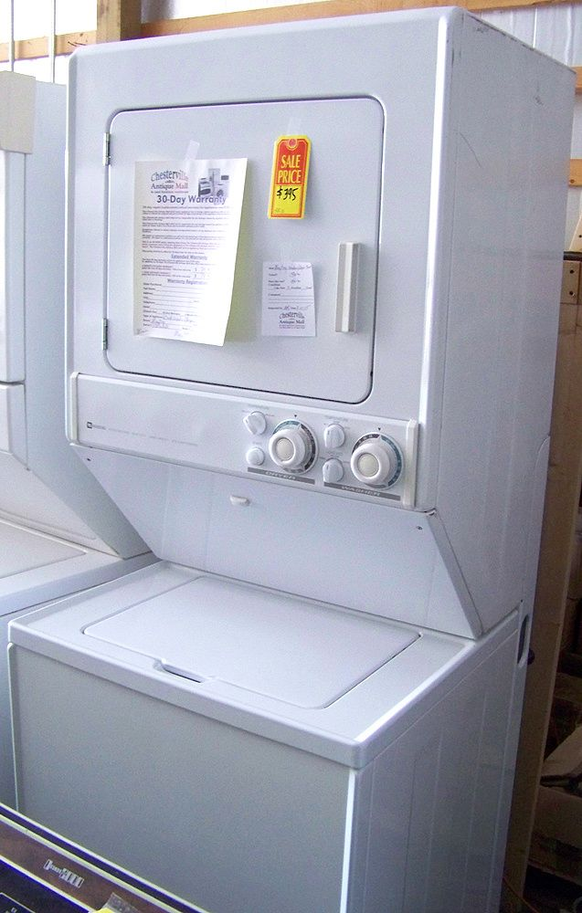 Symbol Mattress Company Maytag Stacked Washer & Dryer in Chesterville IL - Chesterville ...