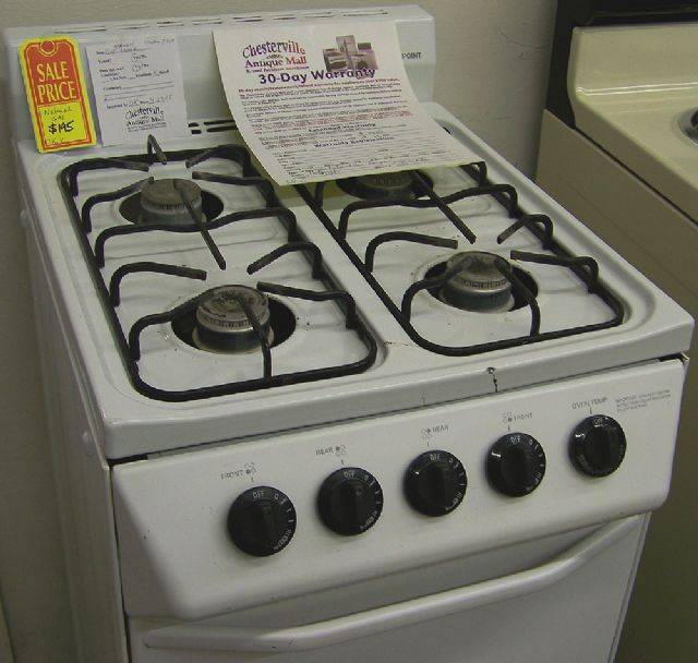 white apartment size natural gas stove in chesterville il