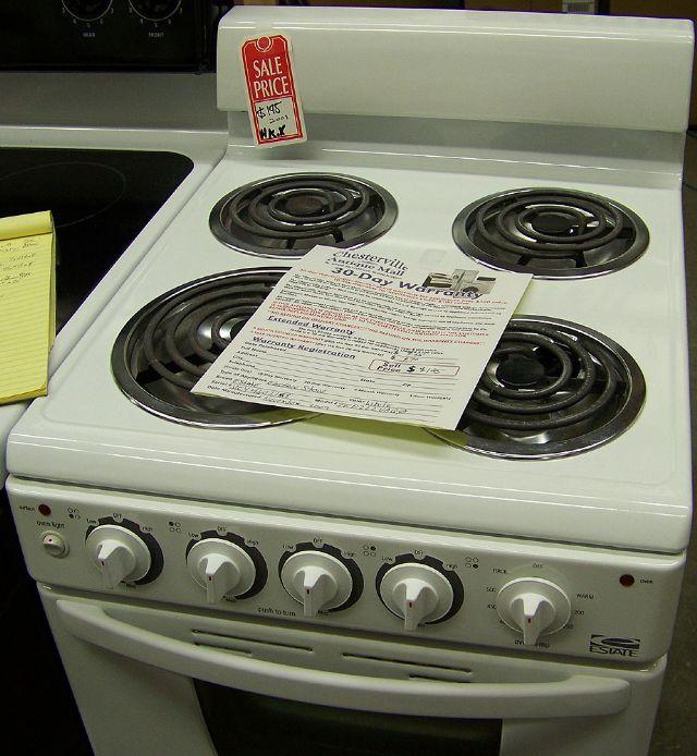 estate apartment size electric stove in chesterville il chesterville