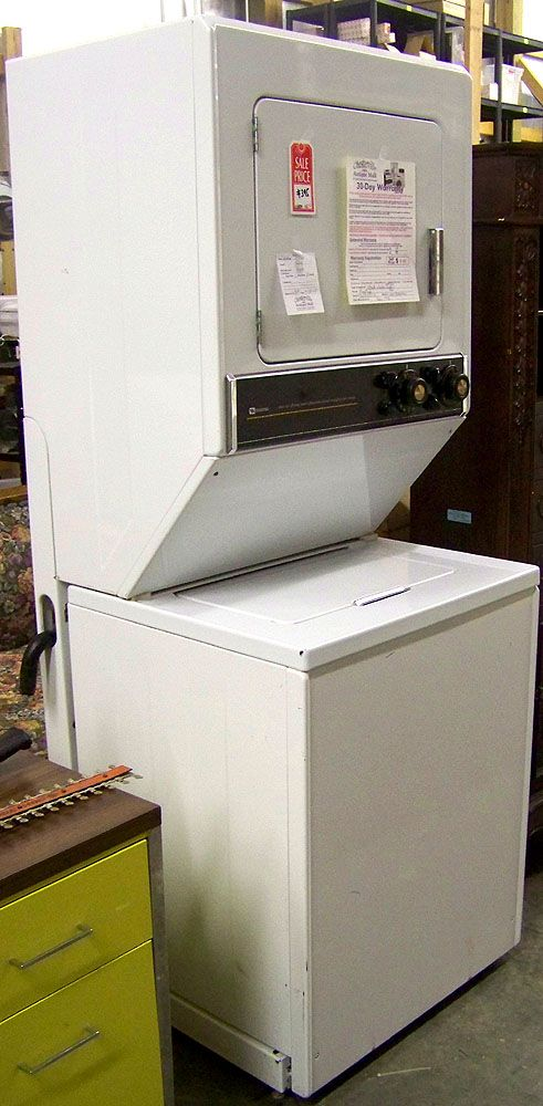 Symbol Mattress Company Maytag Stacked Washer and Natural Gas Dryer in Chesterville IL ...
