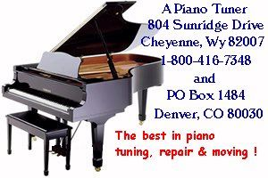 Piano Tuning, Repair & Moving