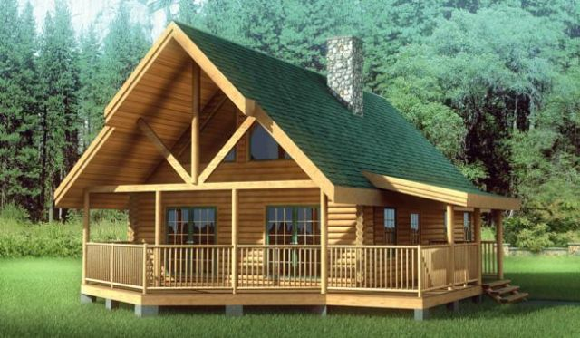 Solid Oak Log Home Kit Schutt Log Homes Cody Wyoming