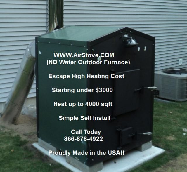OUTDOOR WOOD BURNING FURNACE - Outdoor Wood Furnace MARQUETTE MICHIGAN Appliances For Sale