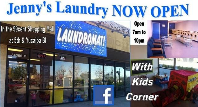 Jennys Coin Laundry Now Open in Yucaipa