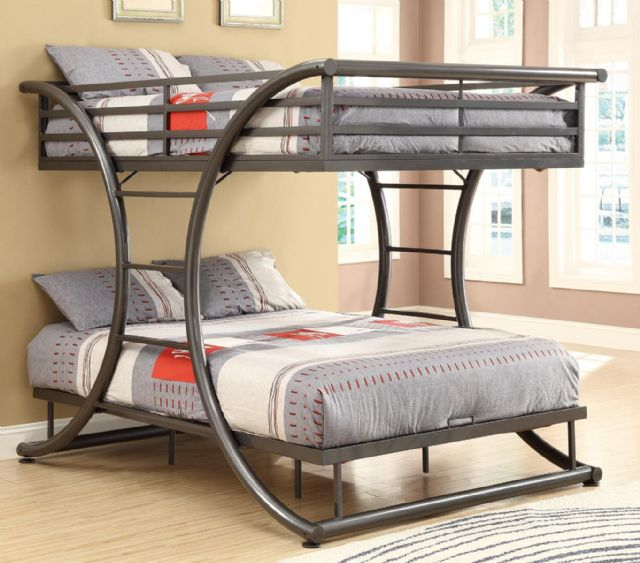 GUN METAL FULL OVER FULL BUNK BED 460078 COASTER