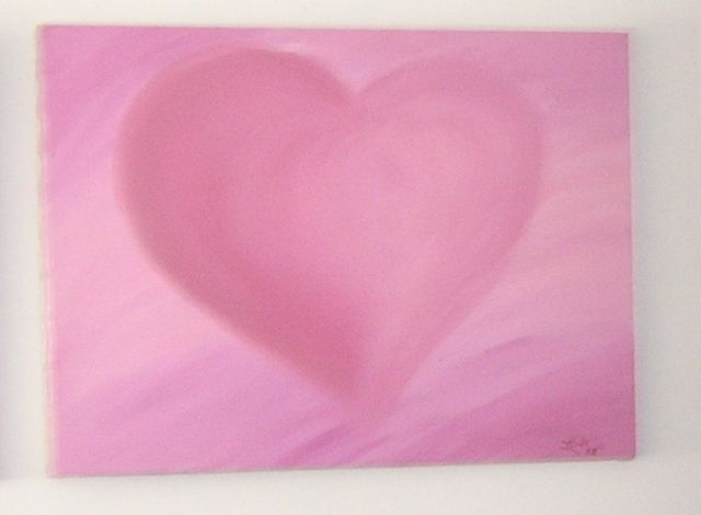 Original acrylic Pink/Red tones &#39;Heart of Love&#39;