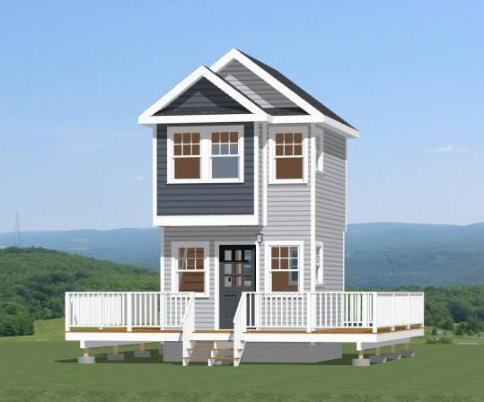12x12 Tiny House 296 sq ft PDF House Plan AUBURN ALABAMA