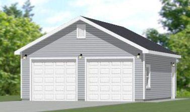 24x24 2 car garage 896 sqft pdf floorplan bowling for Garage 24x30
