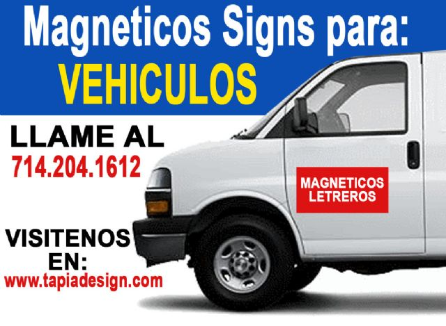 Imanes para Carros-Letreos para Carros Anaheim CA