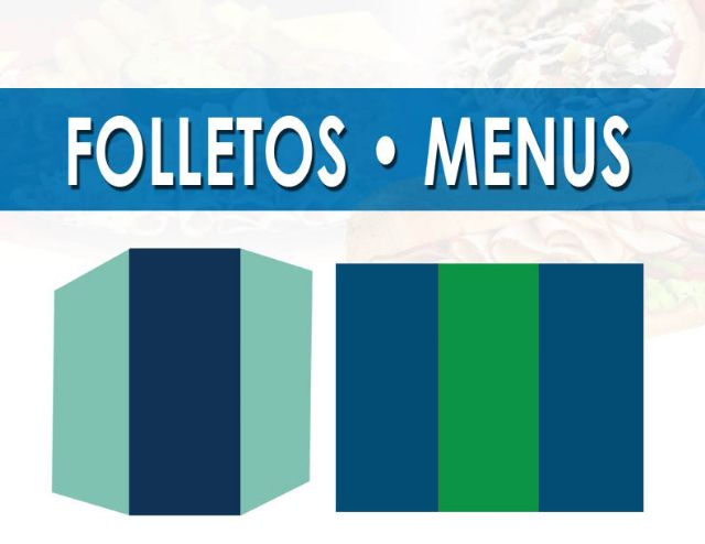 Impresion de Menus Folletos en Orange County CA