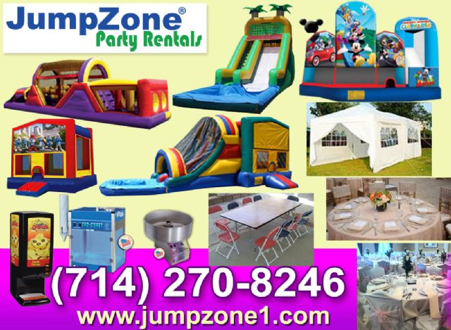 Tustin Jumper rentals in Tustin California Tables