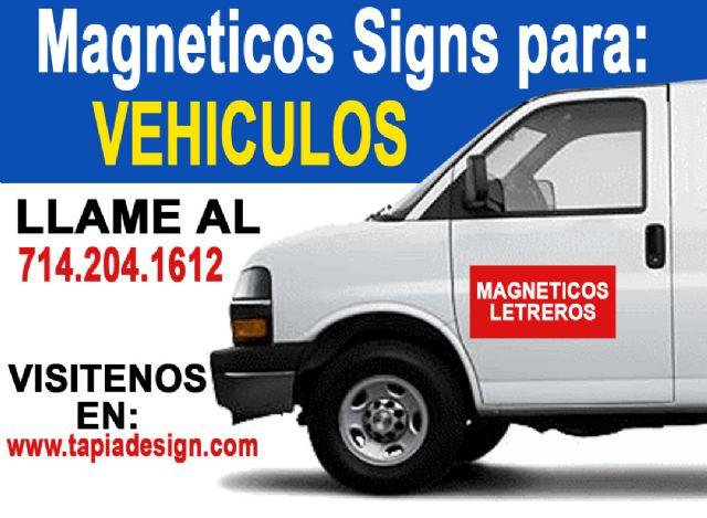 Magneticos para camionetas en Orange County Orange