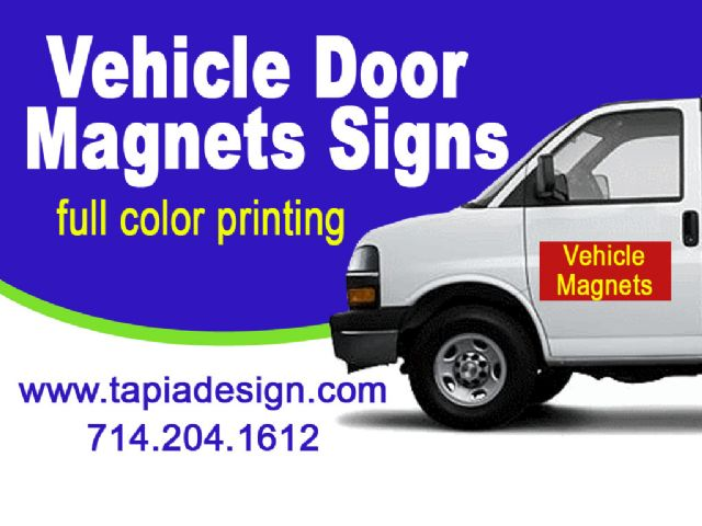Magnetic signs for cars printing in Anaheim Orange