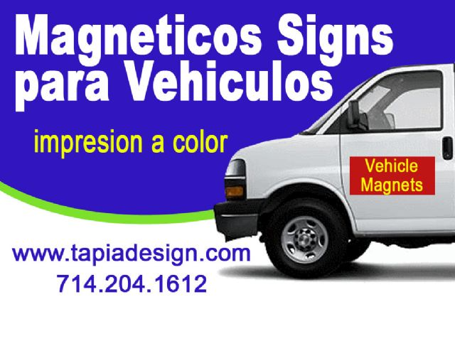 Magneticos para Carros- Letreros de Iman Anaheim