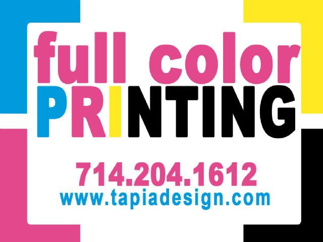 Printing services in Anaheim Full color printing