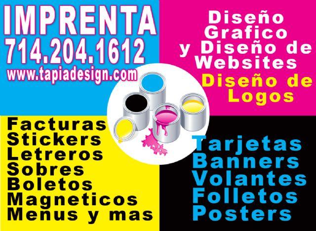 Imprenta en Fontana Riverside Corona La Puente