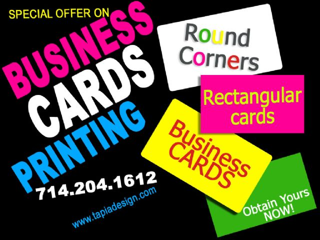 Business Cards printing in Anaheim Buena Park CA