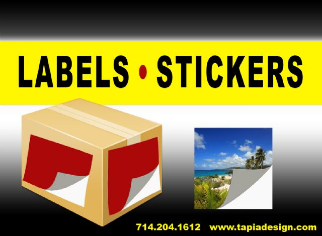 Stickers Printing Labels in Anaheim Orange County