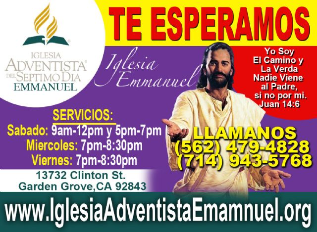 Iglesia Adventista en Orange County Fullerton CA