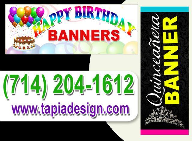 Banners para Fiestas en Santa Ana Anaheim CA