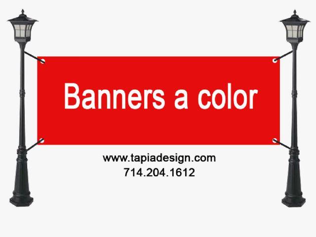 Imprenta Servicios de imprenta de Banners a color