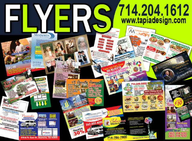 Flyers printing in Anaheim Garden Grove Orange CA