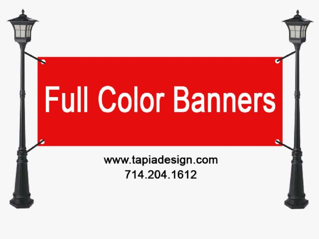 Banners printing in Anaheim Fullerton Buena Park