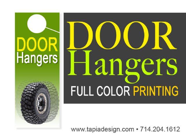 Door hangers printing in Anaheim Fullerton CA